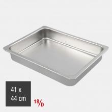 Ταψί Ορθογώνιο 41x44cm 18/D Inox (ΕΩΣ 6 ΑΤΟΚΕΣ ή 60 ΔΟΣΕΙΣ)
