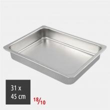 Ταψί Ορθογώνιο 31x45cm 18/10 Inox (ΕΩΣ 6 ΑΤΟΚΕΣ ή 60 ΔΟΣΕΙΣ)