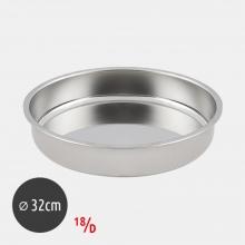 Ταψί Στρογγυλό 32cm 18/D Inox (ΕΩΣ 6 ΑΤΟΚΕΣ ή 60 ΔΟΣΕΙΣ)
