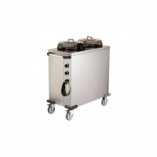 Τρόλεϊ Μεταφοράς Πιάτων Θερμαινόμενο Ανοξείδωτο 2x50 Πιάτα Arisco HPL232 008.0712 + ΔΩΡΟ ΓΑΝΤΙΑ ΕΡΓΑΣΙΑΣ (ΕΩΣ 6 ΑΤΟΚΕΣ Η 60 ΔΟΣΕΙΣ)
