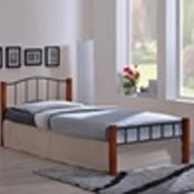 Διαθέσιμο PALOMA κρεβάτι μονό Μέταλλο μαύρο/Ξύλο καρυδί  (ΕΩΣ 6 ΑΤΟΚΕΣ ή 60 ΔΟΣΕΙΣ)