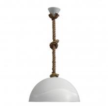 Φωτιστικό Κρεμαστό Ακρυλικό Σχοινί Λευκό 1 x Ε27 Ø36cm x Η65cm 31-0942 K0321 + ΔΩΡΟ ΓΑΝΤΙΑ ΕΡΓΑΣΙΑΣ (ΕΩΣ 6 ΑΤΟΚΕΣ Η 60 ΔΟΣΕΙΣ)