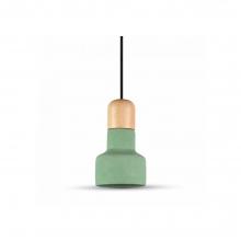 Φωτιστικό Κρεμαστό Τσιμέντο Ξύλο Πράσινο 1 x Ε27 Ø12x21cm 3856 K0296 + ΔΩΡΟ ΓΑΝΤΙΑ ΕΡΓΑΣΙΑΣ (ΕΩΣ 6 ΑΤΟΚΕΣ Η 60 ΔΟΣΕΙΣ)