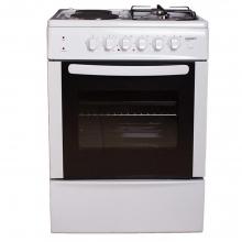 Κουζίνα Εμαγέ Μικτή Crown CR-6060V White  + Δώρο Γάντια εργασίας (ΕΩΣ 6 ΑΤΟΚΕΣ Η 60 ΔΟΣΕΙΣ)
