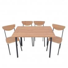Τραπεζαρία σετ με 4 καρέκλες οξιά Ankor    + Δώρο Γάντια Εργασίας(Εως 6 Άτοκες ή 60 Δόσεις)
