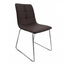 Καρέκλα Δερμάτινη Ankor Καφέ- Ασημί    + Δώρο Γάντια Εργασίας(Εως 6 Άτοκες ή 60 Δόσεις)