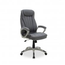Καρέκλα γραφείου διευθυντή Rabiot pakoworld με pu χρώμα γκρι    + Δώρο Γάντια Εργασίας(Εως 6 Άτοκες ή 60 Δόσεις)
