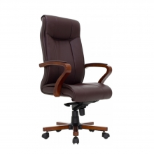 Καρέκλα γραφείου διευθυντή Kansas pakoworld SUPREME QUALITY ξύλο-pu σκούρο καφέ    + Δώρο Γάντια Εργασίας(Εως 6 Άτοκες ή 60 Δόσεις)