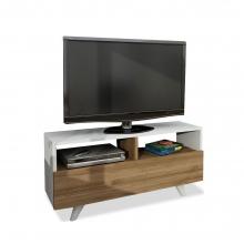Έπιπλο τηλεόρασης PWF-0053 pakoworld χρώμα λευκό-καρυδί    + Δώρο Γάντια Εργασίας(Εως 6 Άτοκες ή 60 Δόσεις)