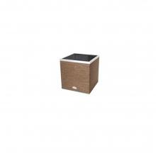 Γλάστρα techno-rattan αυτοποτιζόμενες τετράγωνη/καφέ (ΕΩΣ 6 ΑΤΟΚΕΣ ή 60 ΔΟΣΕΙΣ)